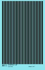 K4 HO Decals Black 1/8 Inch Stripes Set