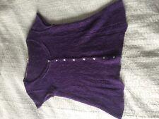 Lovely White Stuff purple fluffy short sleeve cardigan size 12! Alpaca blend