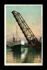 DR JIM STAMPS US LAKE ERIE WHEELING BRIDGE CLEVELAND OHIO VIEW POSTCARD
