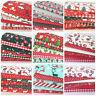 Polycotton CHRISTMAS Fat Quarter Bundles Craft Fabric Poly Cotton FREEPOST