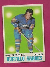 1970-71 TOPPS # 123 SABRES  PAUL TERBENCHE EX-MT  CARD (INV# A3987)