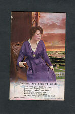 Posted 1918 Bamforth Song Card: God Send You Back to Me (2)