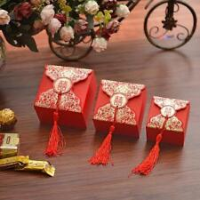 Chinese Style Flower Print &Tassels Candy Box Wedding Favor Gift Box Party Favor