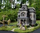 BATES MANSION PSYCHO HOUSE~LIGHTED~HO SCALE BUILT BUILDING MODEL KIT~BATES MOTEL