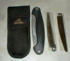 GERBER Exchange-A-Blade Sport Saw Folding Knife w/3-Blades and Belt Sheath