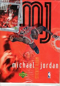MICHAEL JORDAN 1998 MJ STICKER COLLECTION ALBUM & 250 UNOPENED PACKETS (BULLS) A