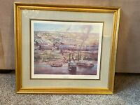 CATFISH TOWNE FRAMED ROBERT RUCKER ART PRINT SIGNED AND NUMBERED 634/950