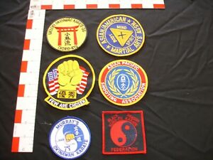 Martial Arts patch collection set 6 patch set