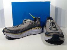 HOKA ONE ONE Men's Bondi 5 Size 10.5 Gray Navy Training Running Shoes X4-137