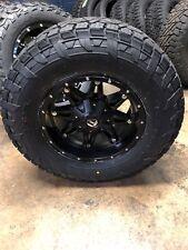 """(5) 17"""" Fuel Hostage Black Wheels Jeep Wrangler Jk Tj 33"""" Fuel At Tires Package"""
