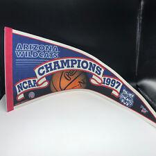 Pennant Flag Vintage sports memorabilia Arizona University Wildcats Champions 97