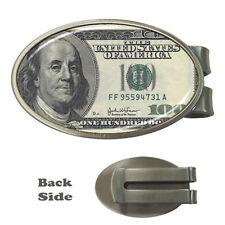 New USD 100 Dollar Bill  One Hundred Dollar Money Clip Card Holder Rare Design!