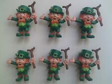 6 Lucky Leprechauns by W. Berrie - 1980 - RARE Vintage Figurines