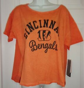Cincinnati Bengals Shirt Women's MEDIUM NFL Team Apparel Touch By Alyssa Milano