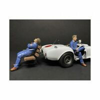 Sitting Mechanics 2 piece Figurine Set for 1 18 Scale Models by American