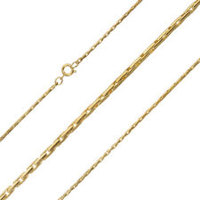 "Gold Plated 1.5 mm round Beading Chain Finished Necklace 18"" (g93/16)"