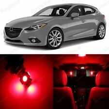 11 x Red LED Interior Light Package For Mazda 3 Sedan + Hatchback 2014 Up