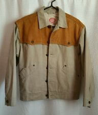 The Australian Outback Collection Coat Jacket w/ Leather Shoulders #6032 Sz S/P