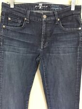 7 For All Mankind Womens 28 Kimmie Straight Slim Leg Med Wash Jeans 29X33 EUC