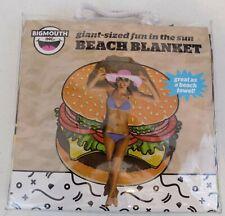 Bigmouth Inc. ~ Beach Blanket-Giant-Sized Burger Design~Microfiber ~ 5'x5' ~ New