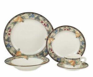 Mikasa Intaglio Garden Harvest 5 Piece Dinnerware Set Bowl/ Saucer & Teacup