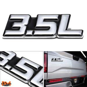 """3.5L""Polished Metal 3D Decal Silver&Black Emblem For Chevrolet/Isuzu/Workhorse"