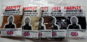 Harpley Medium or Heavy Weight Riders Hairnets 2 PACK Horse Riding Hair net