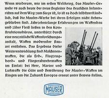 Mauser Obemdorf publicitarias 1942 monasterio antiaéreos rifle armas Wehrmacht ad