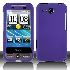 Rubber Purple Hard Case Snap On Cover for HTC Freestyle