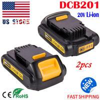 2 Pack For DeWalt 20V 20 Volt Max XR Lithium Ion Battery DCB201 DCB203 DCB205 US