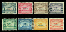 ECUADOR 1929  AIRMAIL OFFICIAL Stamps set   Scott # CO1-CO8 mint MLH