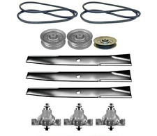 "46"" Mower Deck Rebuild Kit Fits Sears Craftsman GT3000 Blades Pulleys Belt (116)"