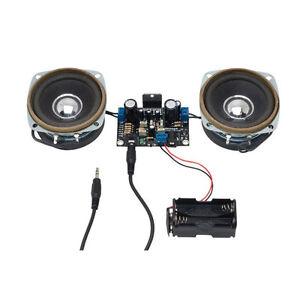 Stereo Amplifier Electronics Kit. 10W + 10W 10W With Speakers Amplifier