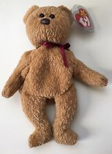 Ty Beanie Baby CURLY Bear Swing Tag Is 1996. Tush Is 1993. Many Errors.