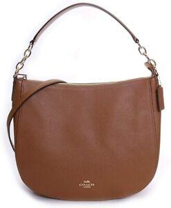 Authentic Coach F31399 Signature Zip Elle Hobo  Crossbody Handbag Bag Reg $395