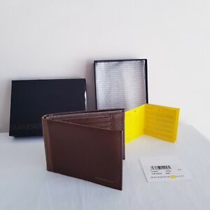 """AUTHENTIC -""""MANDARINA DUCK""""- BROWN - TEXTURED LEATHER - WALLET - BRAND NEW BOXED"""