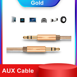 3.5mm Braided Audio Cable Male To Male Nylon Aux Recording Cable Car Audio
