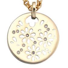 Natürliche runde Echtschmuck-Halsketten & -Anhänger mit floralen Themen