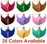 Slit Ruffle Skirt Chiffon Flamenco Belly Dance Gypsy Tribal Ruffle Costume Jupe