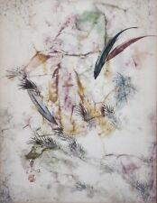 PANG TSENG YING-Chinese Artist-Original Signed Watercolor-Fish & Flowers