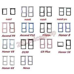 Nano Sim Card SD Tray Slot Holder For Huawei Mate 8 9 P9 P10 Plus V8 G9 Nova G7
