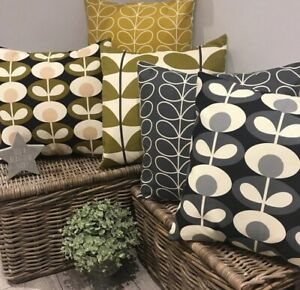 Orla Kiely Cushion Covers Linear Two Coloured Stem Oval Flower New Prints Added