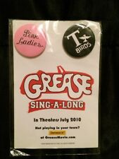 Grease Sing-A-Long T-birds & Pink Ladies Button Set 2010 Paramount Pictures