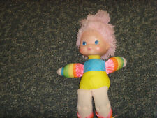 "Vintage 1983 vintage Rainbow Brite pink yarn hair doll 14"" cartoon unique fair"