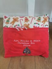 Christmas red pillow case bedding santa christmas eve gift personalised