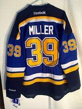 Reebok Premier NHL Jersey ST. LOUIS Blues Ryan Miller Blue sz S