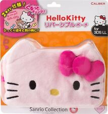Brand New CALIBER Hello Kitty Nintendo 3DS LL XL Reversible Pouch Pink Japan