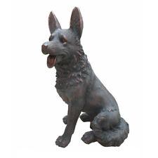 German Shepherd / Alsatian  Dog Garden Statue / Ornament Bronze Effect