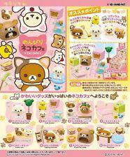 Re-Ment Miniature Sanrio San X Rilakkuma Cat Cafe Full Set of 8 pcs