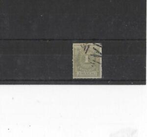 URUGUAY , 1884, SG100 TYPE 28 1c GREEN, USED...